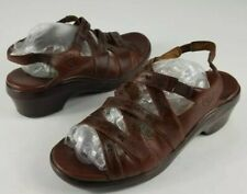 Ariat Floral ATS 96922 Brown Leather Strappy Slingback Sandals Women's Size 9.5B
