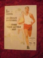 1st Annual Los Angeles Invitational Track and Field Meet January 22 1960 Program