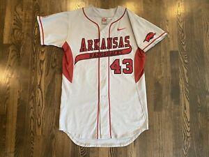 "Vintage Nike #43 ARKANSAS RAZORBACKS Team Issued Game Jersey Size 44 + 2"""