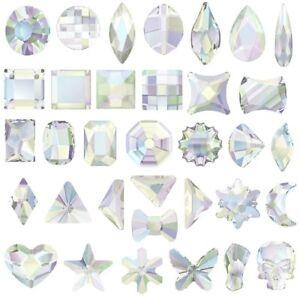 Swarovski [ Pick any shape You want ] AB Crystal (No Hotfix) Flatback Rhinestone