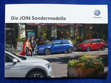 VW Join Sondermodelle MJ 2019 - Golf Polo Tiguan Multivan - Prospekt 07.2018