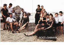 PUBLICITE ADVERTISING 104  2013   DOLCE & GABBANA  mode MONICA BELUCCI ( 2 pages