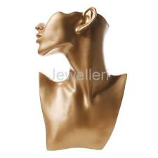 New Necklace Earring Jewelry Display Show Stand Mannequin Model Gold Retail