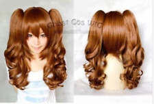 Beautiful Short Wig 2 Long Curly Pigtails Women's Cosplay Wig+ Gift