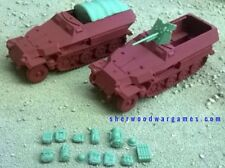 28mm German Sdkfz 251 Ausf C Variants In Resin By Blitzkreig WWII Bolt Action,