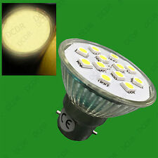 4x 3W BC B22 Epistar SMD 5050 LED Spot Light Bulbs 2700K Warm White Lamps