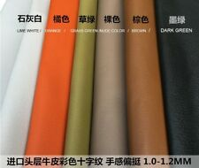 Taiga First layer leather material cross pattern cowhide for Leathercraft Color
