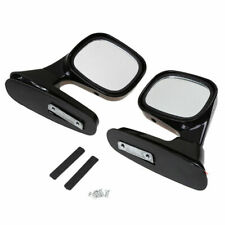2Pcs UNIVERSAL PAIR RACING AUTO SIDE VIEW DOOR MIRROR LEFT & RIGHT Side BLACK
