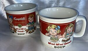 Pair (2) Of Vintage Campbell's Soup Bowl Mug Design