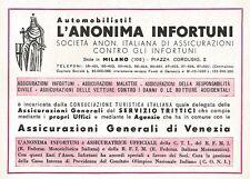 W9387 Assicurazioni Generali di Venezia - Pubblicità del 1939 - Old advertising