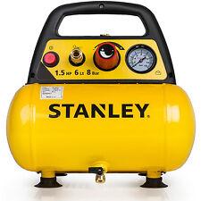 Stanley Druckluft Kompressor 1100W 8 bar 6 Liter 1,5 PS Luftkompressor KFZ PKW