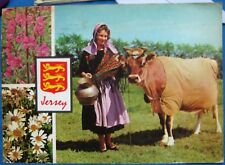 Jersey Milkmaid and Jersey Cow - posted 1972