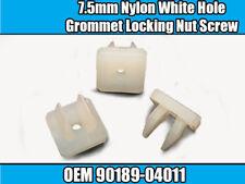 20x 7.5 mm Nylon Blanc Trou Passe-fil Verrouillage écrou vis Mont OEM 90189-04011 Q032