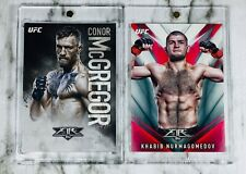 2017 Topps UFC/Fire ~ CONOR MCGREGOR & KHABIB NURMAGOMEDOV! 2 CARD LOT!📈💰🔥
