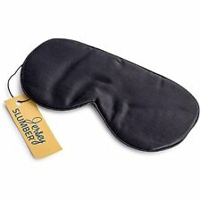 Silk Eye Bags Jersey Slumber 100% Silk Sleep Mask For Full Night's Comfortable