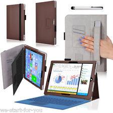 """Edel Schutz Hülle für Microsoft Surface PRO 3 12"""" Tasche Smart Cover Case 2Braun"""