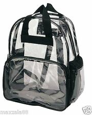 Travel Bag Unisex Transparent School Security Clear Backpack BookBag Plastic CBP