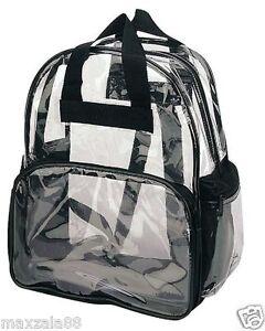 Travel Bag Unisex Transparent School Security Clear Backpack BookBag Plastic CBP