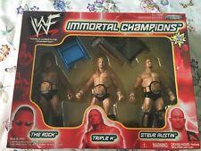 WWE WWF immortel Champions JAKKS figures Austin Rock Triple H