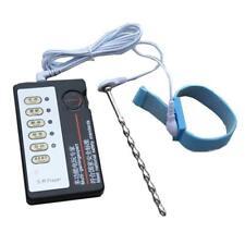 Electric Pulse Penis Extender Plug Beads Enlarger Ring Pump Long erection