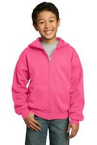 Port & Company Youth Core Fleece Full-Zip Hooded Sweatshirt