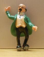 Tintin Herge Figurine Plastique Tournesol en patins Plastoy 1994