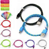 Long Braided USB Charger Data Charging Cable Lead For iPhone 6s 7 8 6 5s X XR XS