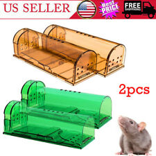 2pcs/set Mousetrap Plastic Mouse Cather Cage Reusable Home Mice Catching Tool