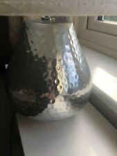 LOVELY AIMBRY CHROME HAMMERED TABLE LAMP 18INCHES HIGH