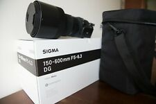 Sigma 150-600mm 5-6.3 Contemporary DG OS HSM Lens for Canon- Perfect Condition