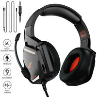 Gaming Mic Headset Stereo Over Ear Headphone For PS4/Nintendo Switch/Xbox One/PC