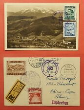 Dr Who 1947 Austria Postcard Vienna Registered To Switzerland C218958