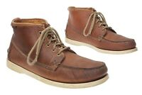 SEBAGO Docksides Boots Mens 10.5 M Brown Leather Boat Shoes Moc Toe Boots Shoes