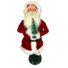 Vintage Christmas Byers Choice 1991 Caroler Santa Claus with Christmas Tree