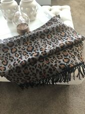RIVER ISLAND Thick Wool Animal Print Scarf