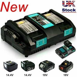 NEW FOR Makita DC18RD Dual Port 18V Rapid Battery Charger NEW Li-ion LXT UK Plug