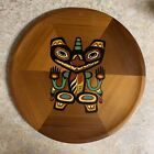 Panorama Canada Tribal Bear Mother On Red Cedar Wood Wall Hanging Vintage
