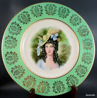 Royal Staffordshire Dinner Plate (s) Lady Portrait AJ Wilkinson Gainsborough Vtg