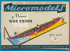 Micromodels Original old set S XV Maori War Canoe