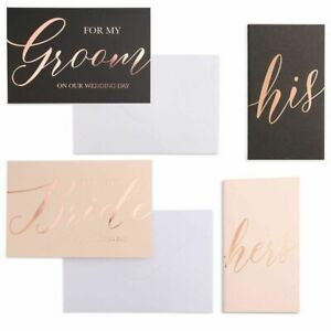4Pcs Set Wedding Vow Books His and Hers Cards with Envelopes for Bridal Shower