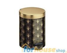 Pattumiera metallo 5 litri deco 1 oro nero melicon