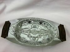 Vintage Kromex Serving Tray with Divided Glass Insert