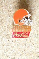 Cleveland Browns Coca-Cola helmet lapel pin NFL Coke Coca Cola