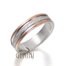 Men Women Rose Gold Filled Silver Scrub Wedding Titanium Ring Sz4-16 Gmus030B