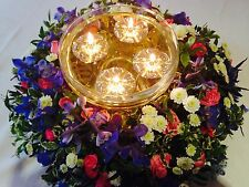 UNIQUE LONG BURNING FLOATING CANDLES 100 SILVER FLOATS & 100 LONG BURNING WICKS