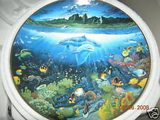 Underwater Paradise Dolphen Collectible Plate