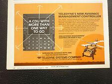 8/1986 PUB TELEDYNE SYSTEMS COMPANY CDU AVIONICS MANAGEMENT CONTROLLER AD