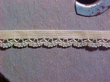 Elastic 3/8 Butter YELLOW Scalloped Lace Edge Dainty 38083 Lingerie Doll  5 yd
