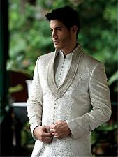 Ethnic Pakistani Designer Men's Kurta Indian Traditional Wedding Groom Sherwani.