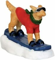 Lemax Village Collection Snowboarding Dog # 42222 Christmas Tree Accessory Doggy